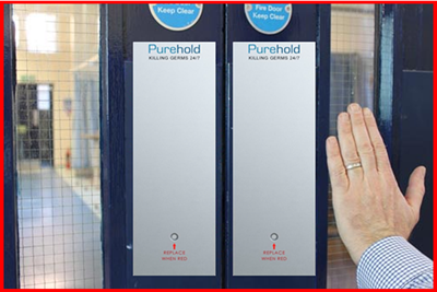 Purehold Silver Ion Antimicrobial Push Plate Covers