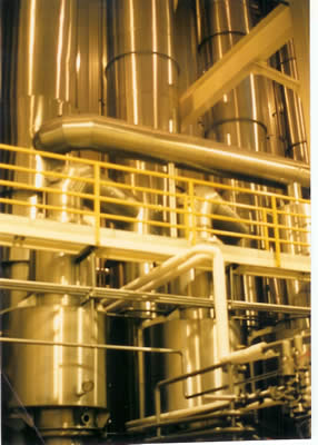 Milk Drying Plant Equipped with King-Gage Tank Level Gauges